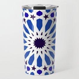 -A18- Original Traditional Moroccan Tile Design. Travel Mug