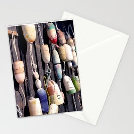 Fishing Buoys on Rustic Building in Orcas Island Stationery Cards