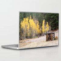 cabin Laptop & iPad Skins featuring Fall Cabin by Vanessa Stickler