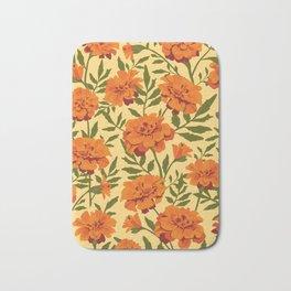 Marigold Flowers Pattern Bath Mat