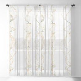 Spiral Columns Sheer Curtain