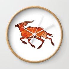 Bongo Antelope Wall Clock