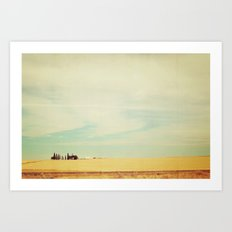 Farm Polaroid Art Print