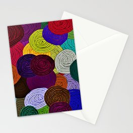Colorful Circle Art Stationery Cards