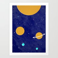 solar system Art Prints featuring Solar System by Quinn Shipton