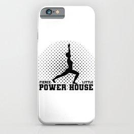 Gymnast Fierce Litte Power House Gymnastics iPhone Case