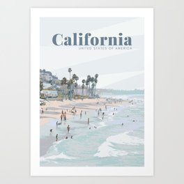 California Carlsbad Beach USA Art Print