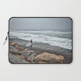 Surfer, High Tide. Torrey Pines State Beach, California. Laptop Sleeve