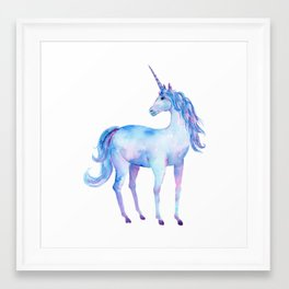 Watercolor Unicorn Framed Art Print
