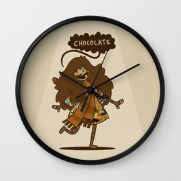 Chocolate Lady Wall Clock