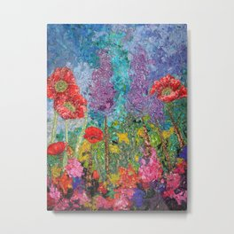 Poppy Garden by StitchyTreasures Metal Print
