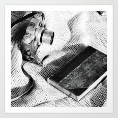 A Vintage Camera and A Journal Art Print