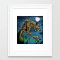 werewolf Framed Art Prints featuring Werewolf  by Furiarossa