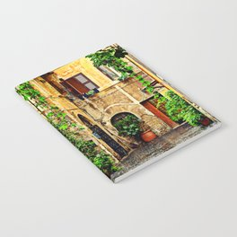 Vintage street in Rome, after Rain Notebook