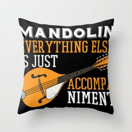 Mandolin accompaniment instrument strings musician Throw Pillow