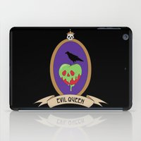 evil queen iPad Cases featuring EVIL QUEEN - Apple and Raven by ElphieBess-Art