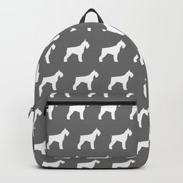 White Giant Schnauzer Silhouette Backpack