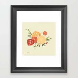 Rose Bouquet Framed Art Print