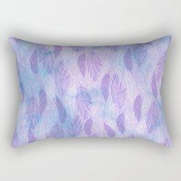 feathers blue purple pattern Rectangular Pillow