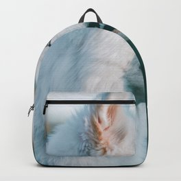 White Wolf Tongue Out (Color) Backpack