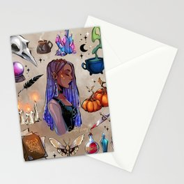 Witchy moodboard Stationery Cards