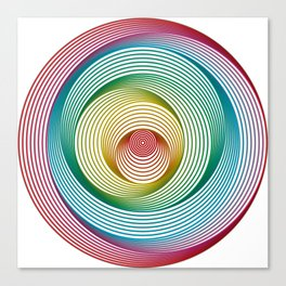 Shifting Circles Canvas Print