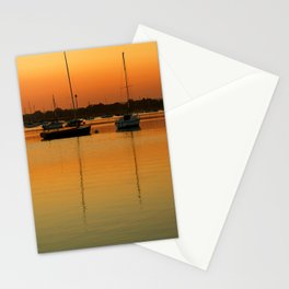Sleeping Sail Boats Stationery Cards