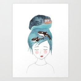 Magic in my head Art Print
