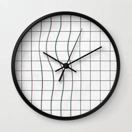 Square Glitch Pattern Wall Clock