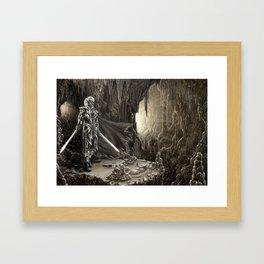 Golden cavern Framed Art Print