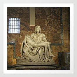 Michelangelo's Pieta in St. Peter's Basilica                                              Art Print