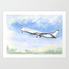 Airplane Flight Art Print