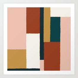 Spring Color Block Art Print