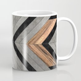 Urban Tribal Pattern No.2 - Concrete and Wood Coffee Mug