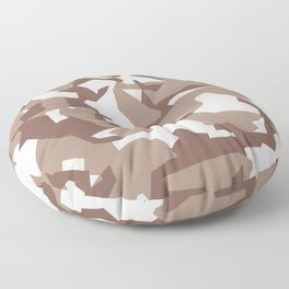 Camouflage Splinter Pattern Desert Floor Pillow