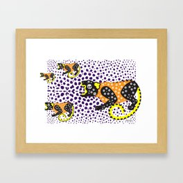 B'alam/Jaguar – Intention and Strength Framed Art Print