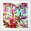 pink lily and turquoise touch by clemm