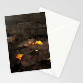 Abstract landscape nature texture lava fire geology digital illustration Stationery Cards