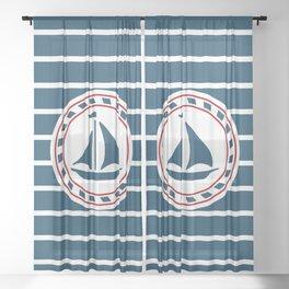 Sailing boat Sheer Curtain