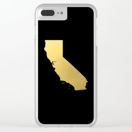 California Golden State Clear iPhone Case