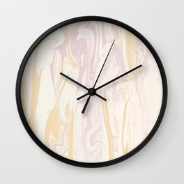 Liquid Rose Gold Marble Wall Clock