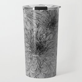 Linework Zinnias Travel Mug