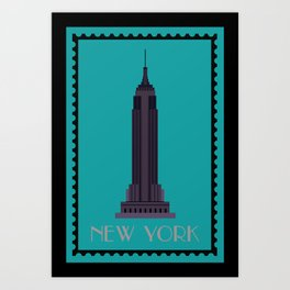 Empire State Building NY Art Print