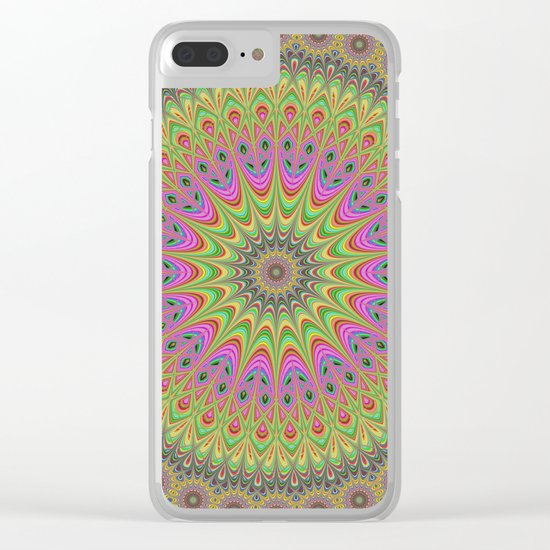 Floral ornament mandala Clear iPhone Case