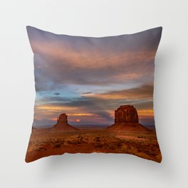 Oljato-Monument_Valley 0122 - Sunset Throw Pillow