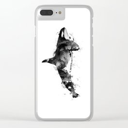 Killer Whale Clear iPhone Case