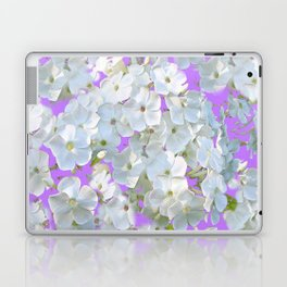 DELICATE LILAC & WHITE LACE FLORAL GARDEN PATTERNS Laptop & iPad Skin