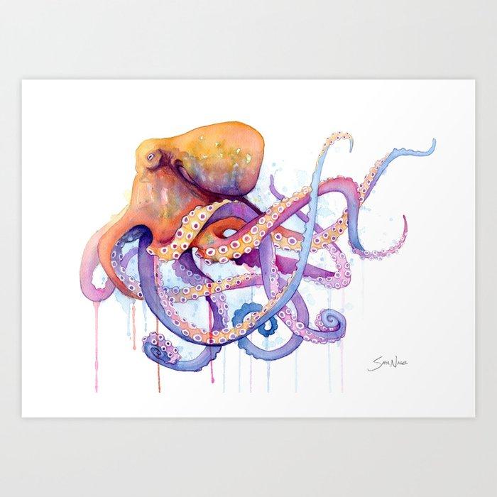 Octopus II Kunstdrucke