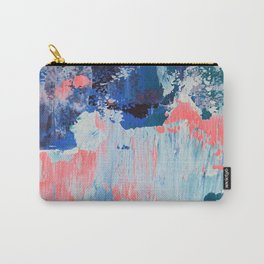 Mixtapes and Bubblegum: a colorful abstract piece in pinks and blues by Alyssa Hamilton Art Carry-All Pouch