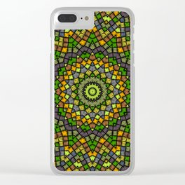 Ethnic round ornament Clear iPhone Case